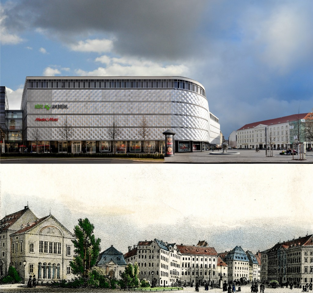 Leipzig 1850 2015 Theaterplatz