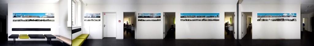 Panorama Stadtbild Stadt Wände Ausstellung Praxis Büro